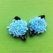 Розы атласные пышные голубые