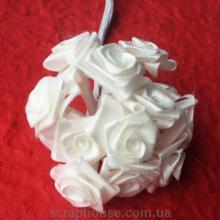 Розы атласные кремовые на проволоке