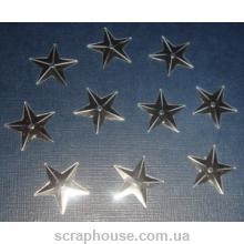 Пайетки Звездочки серебряные