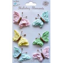 Набор разноцветных бабочек Весенние