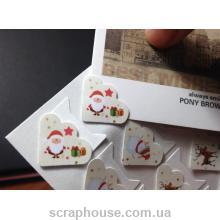 Уголки-самоклейки новогодние для крепления фото, размер уголка 2,0х1,7 см., к-во  24 шт.