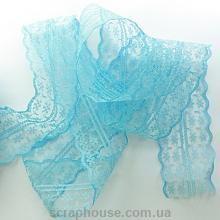 Кружево голубое, ширина 4,5 см