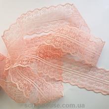 Кружево цвет розовый персик, ширина 4,5 см