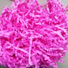 Рафия бумажная соломка жатая ярко-розовая